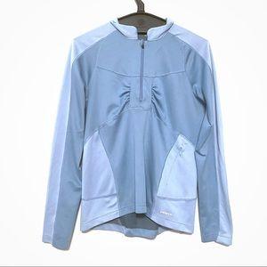 Patagonia Light Blue Colorblock Half Zip Jacket